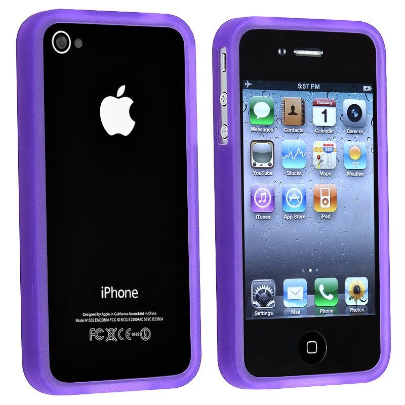BasAcc Purple TPU Bumper Case for Apple iPhone 4/ 4S