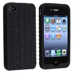 BasAcc Black Tire Tread Silicone Skin case for Apple iPhone 4/ 4S