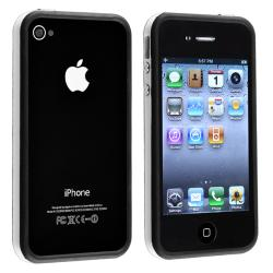 BasAcc White TPU Bumper Case/ Aluminum Buttons for Apple iPhone 4/ 4S
