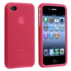 BasAcc Hot Pink Silicone Skin Case for Apple iPhone 4/ 4S