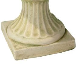 Christopher Knight Home Ulysses 22.5-inch White with Green Moss Urn Planter