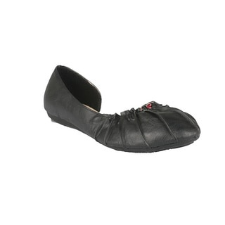 Neway by Beston 'Pansy-02' Women's Black Ballet Flats