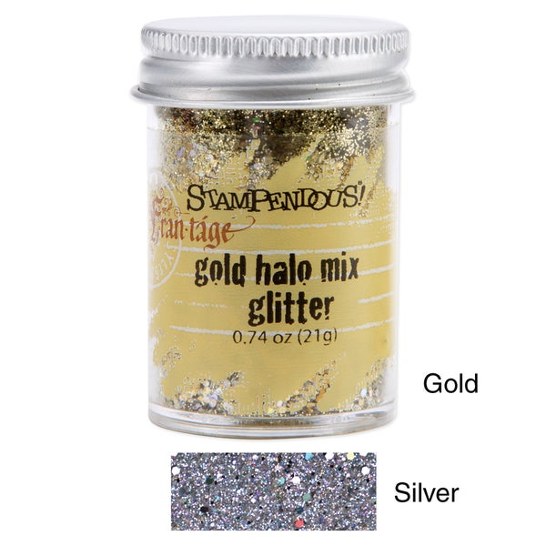 Stampendous 0.74-ounce Jar Halo Fine and Medium-sized Glitter Mix