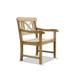 Renaissance Weather-Resistant Outdoor Hand-Scraped Hardwood Armchair