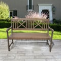 Renaissance Outdoor Hand-scraped Hardwood Garden Bench