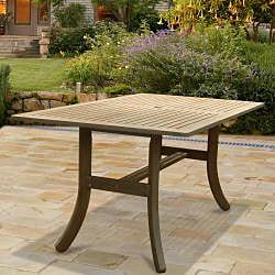 Renaissance Rectangular Table and Armchair 5-piece Hardwood Outdoor Dining Set