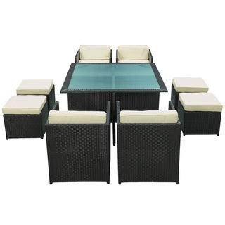 Equilibrium Outdoor Rattan Espresso 7-piece Set