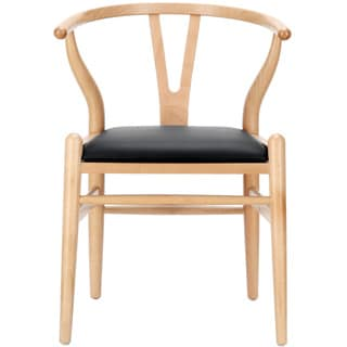 Wishbone Chair with Leatherette Seat