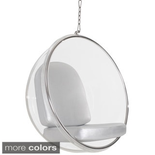 Eero Aarnio Style Bubble Chair With Silver Cushion