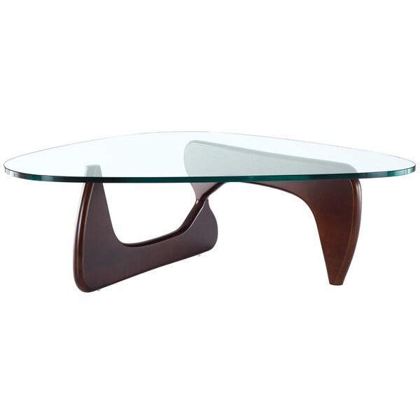 Triangle Coffee Table in Dark Walnut