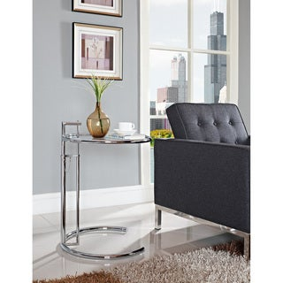 Eileen Gray Stainless Steel Accent Table 10537708 Shopping Great Deals On