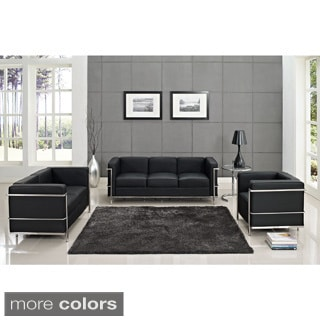 Charles Petite Leather Sofa
