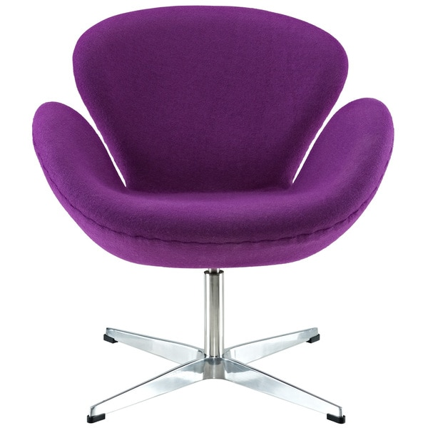 Purple Arne Jacobsen Swan Chair