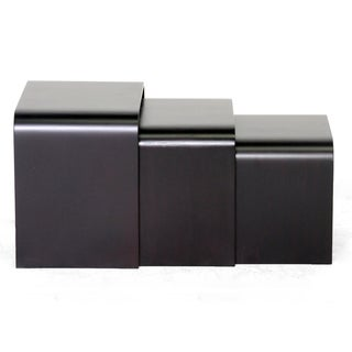 Hardin Dark Brown Modern Nesting Tables (Set of 3)