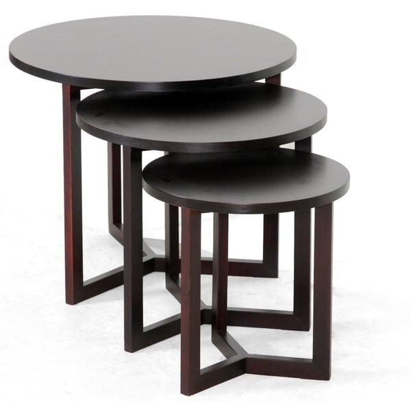 Hess Dark Brown Modern Nesting Table