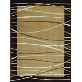 Allestra Sahara Brown Area Rug (7' x 10')