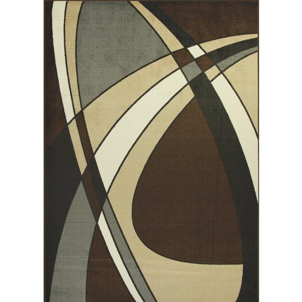 Somette Allestra Prosperous Black Rug (4' x 6')