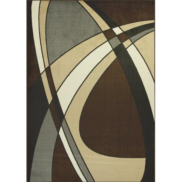 Somette Allestra Prosperous Black Rug (7' x 10')