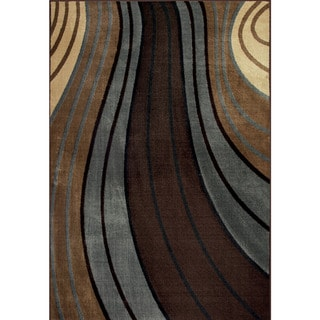 Allestra Passage Brown Rug (5' x 8')