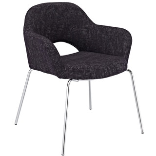 Black Fabric Arm Chair