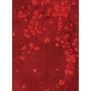 Allestra Elegance Red Rug (4' x 6')