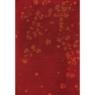Allestra Elegance Red Rug (5' x 8')