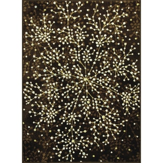 Allestra Blossoming Brown Rug (4' x 6')