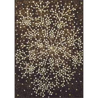 Allestra Blossoming Brown Rug (7' x 10')