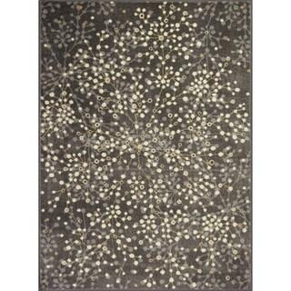 Allestra Blossoming Grey Rug (4' x 6')