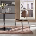 Fathom Walnut Molded Plywood Dining Chair with Metal Legs