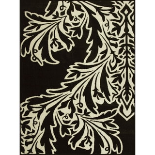 Allestra Flamenco Black Rug (4' x 6')