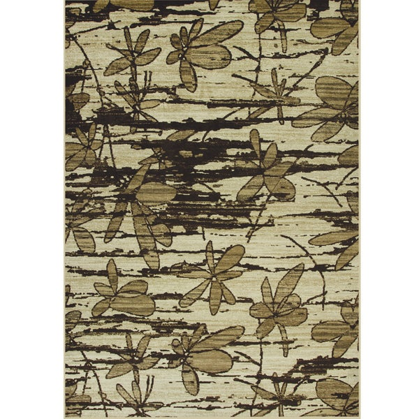 Somette Allestra Without Prevention Beige Rug (7' x 10')