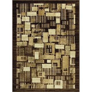 Allestra Petro Blocks Beige Rug (4' x 6')
