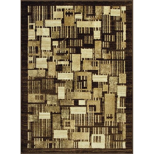 Somette Allestra Petro Blocks Beige Rug (4' x 6')