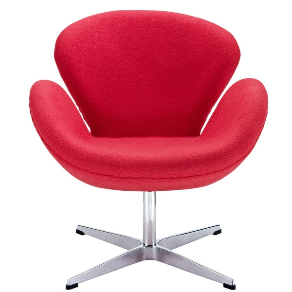Red Arne Jacobsen Swan Chair