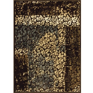 Somette Allestra Faithful Harmony Chocolate Rug (4' x 6')