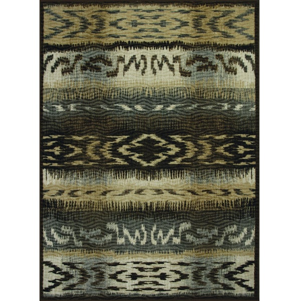 Somette Avante First Nation Grey Rug (4' x 6')