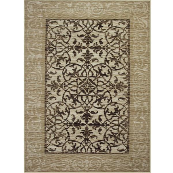 Somette Avante Delicate Attentions Beige Rug (4' x 6')