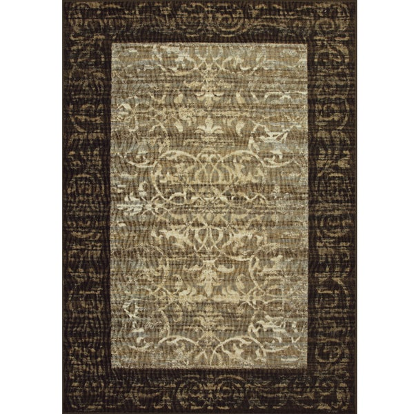 Somette Avante Delicate Attentions Chocolate Rug (4' x 6')