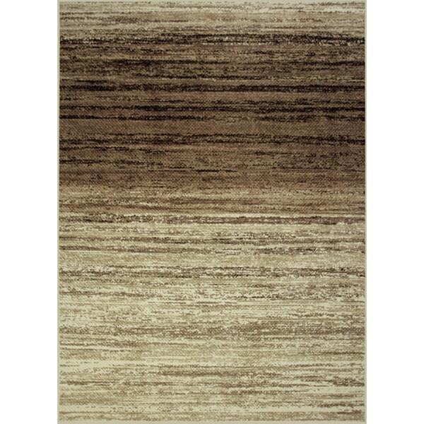 Somette Avante Strictly Linear Beige Rug (4' x 6')