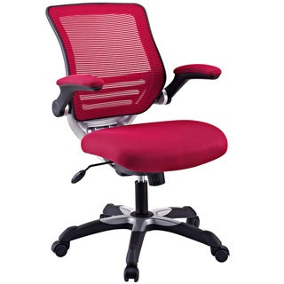Focus Office Chair with Burgundy Mesh Back and Mesh Fabric Seat