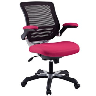 Edge Office Chair With Red Mesh Back And Mesh Fabric Seat Overstock