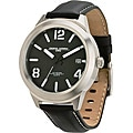 Jorg Grey Men's Black and Silver Watch