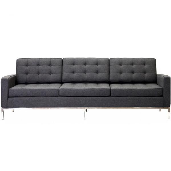 Florence Style Dark Grey Wool Sofa