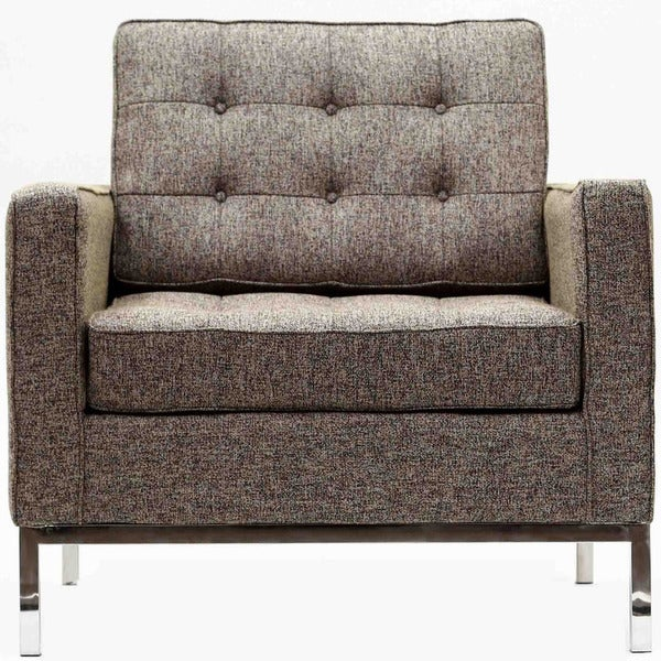 Florence Style Oatmeal Wool Armchair Chair