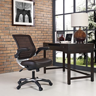 Edge Mesh Back Faux Leather Office Chair