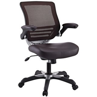 Focus Brown Mesh Back Faux Leather Office Chair