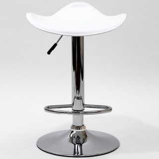 White Saddle Bar Stool