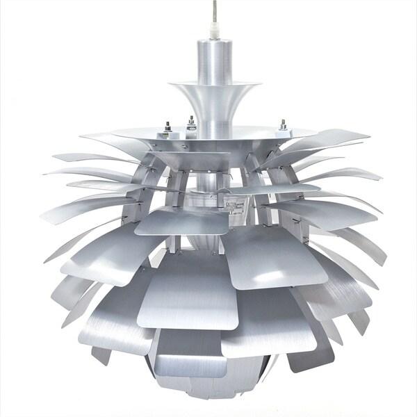 Artichoke Style Modern Silver 28-inch Chandelier Lamp