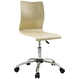 Natural Molded Plywood Swivel Office Chair